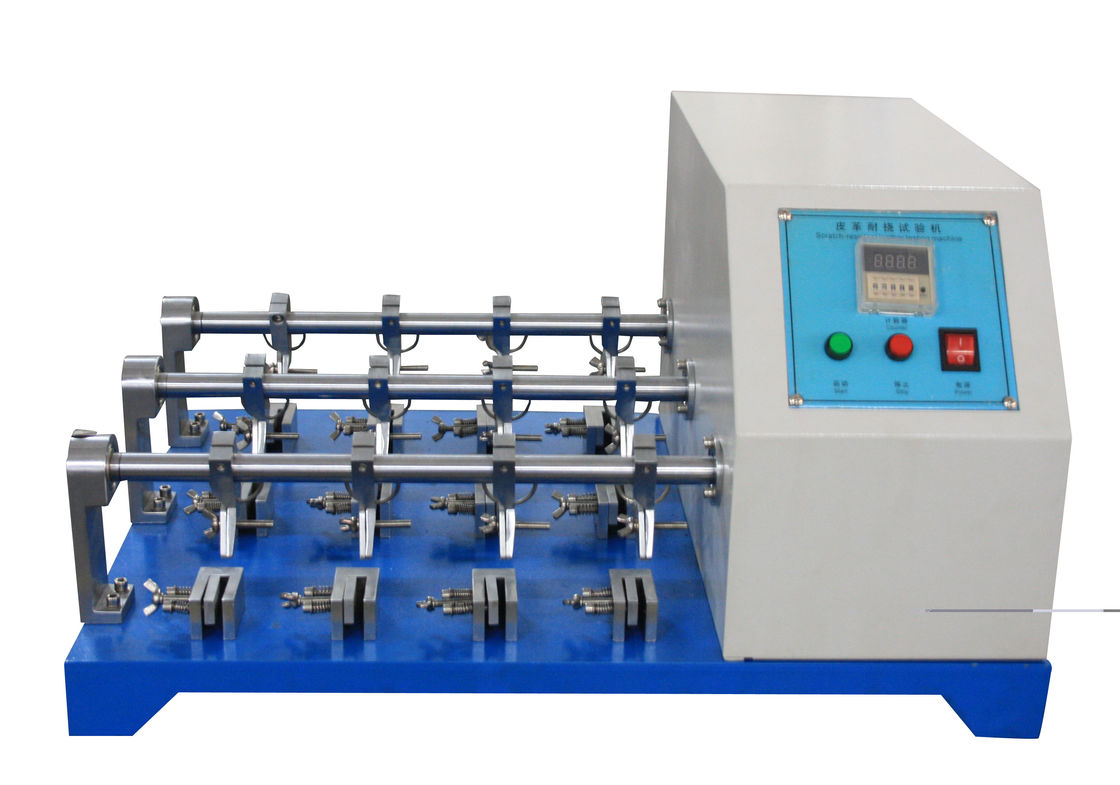 BS - 3144 Standard Leather Testing Equipment For Flexing Resistance Test with 12 Groups