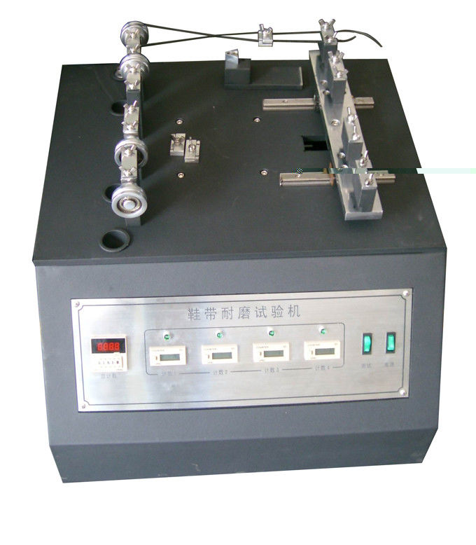 ISO 22774 Shoelace Abrasion Resistance Tester , Lace to Lace Abrasion Testing Machine